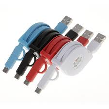 <b>1PC</b> Retractable Roll Ruler 2 In <b>1 USB</b> Data Sync Cable Charging ...