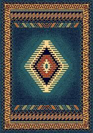 southwestern rugs blue rug 1 10 x3 manhattan tucson