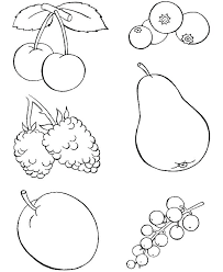 Fruit Coloring Sheet Fruits Coloring Pages For Preschoolers Coloring