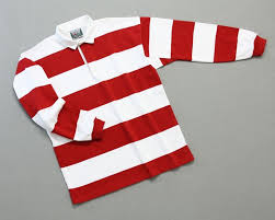mns hoop stripe rugby red white