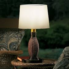 outdoor battery operated table lamp antique bronze 3 light levels lighting