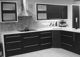 Furniture Beautiful Design Cool Red Black And White Kitchens Wood