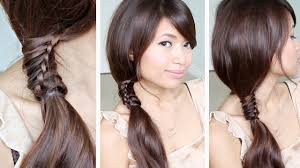 Chinese Women Hair Style chinese staircase braid ponytail hairstyle for medium long hair 1722 by wearticles.com