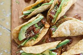 Ahi Tuna Poke Crispy Taco Slider Recipe ...
