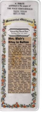 THE FAMILY HISTORY OF BILLY BLAIR: Herbert Orlando Blair: Basic Family  Information