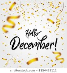 Welcome December Firework Vector Greeting New Stock Vector Royalty