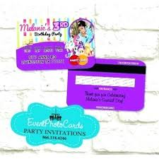 Credit Card Party Invitations My Little Pony Birthday Invitations Personalized Free Credit Card