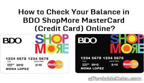 Choose credit card number as the sign up option. How To Check Your Balance In Bdo Shopmore Mastercard Credit Card Online Banking 30194