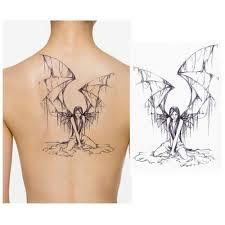 2 шт большие крылья тату дизайн ангельские крылья временные