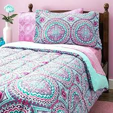 Pink And Green Floral Bedding Pink And Green Comforters 8 Piece