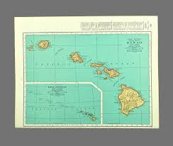 hawaii map of hawaii wall art decor