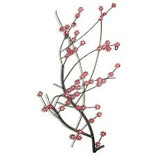 cherry blossom metal wall art