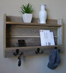 Rustic Wall Coat Rack With Shelf Modern Rustic Entryway Coat Rack Shelf and Mail Phone Key Organizer 44