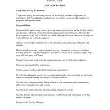 Housekeeping Resume Format Template Example Effective For Job