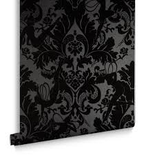 Small Picture Black Wallpaper Designs Striped Patterned Black Wallpaper