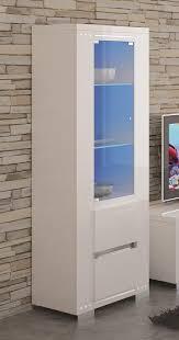 White High Gloss Living Room Furniture Uk Elegance Tall Display Cabinet Living Room Furniture