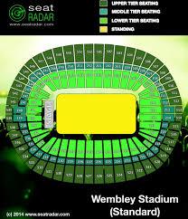 Detailed Wembley Arena Seating Plan Row Numbers Wembley