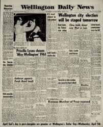Wellington Daily News Archives, Apr 3, 1961, p. 1