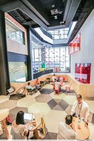 google office pasir. Open Working Spaces At Cafes Scattered Around The Google Office Pasir I