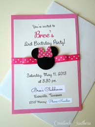 minnie mouse invitation minnie mouse birthday
