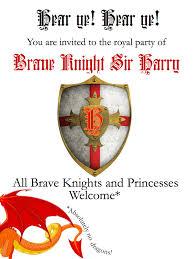 diy knights and princesses party invitations and arrows knights party invitation