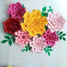 Paper Flower Backdrop Rental Paper Flower Backdrop Giant Diy Rental Houston Template