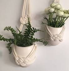cool inspiration hanging wall vase macrame detail by the hummingbird card company glass flower bud ceramic