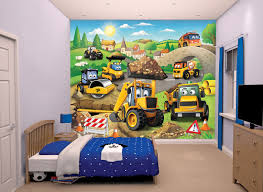 Lego Bedroom Wallpaper My First Jcb Mural By Walltastic Multi Coloured Wallpaper Direct