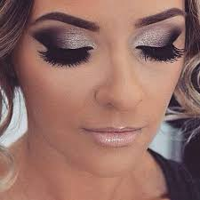 black evening dress with perfect makeup and hair style best 25 silver smokey eye ideas on