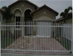 Plain Picket Gate Aluminum Picket Fence Gate Electric Driveway