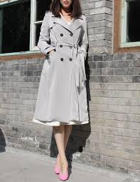 grey trench coat womens long grey jacket custom tailored womens casual coat