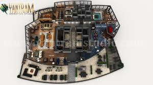 Office Design Plan 3d Professional 3d Combined Commercial Office Residential