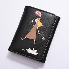 women trifold leather wallets cat candy color short card holder kids purse wallet cute girls mini cartoon pu money bag coin toddler purses zebra print purse