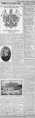 Boston Globe 5 Sep 1901, Fletcher Quarter-Centenial Reunion - Newspapers.com