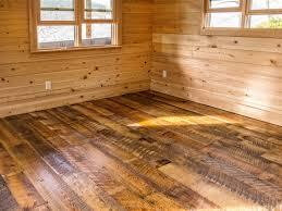 wide plank reclaimed heart pine floor rustic