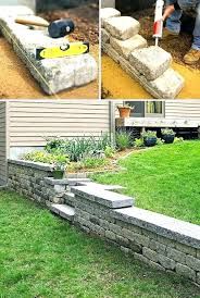 cost of retaining wall how to build a small garden wall best stone retaining wall ideas cost of retaining wall