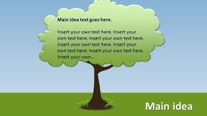 tree in powerpoint growing decision idea tree roots a powerpoint template from