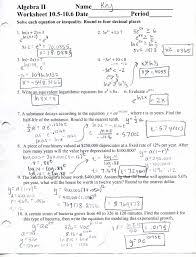 algebra 2 worksheet solving exponential equations the best worksheets image collection and share worksheets