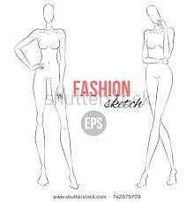 Blank Fashion Design Templates Fascinating Sketch Model Template Best Template Ideas