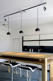 cool track lighting for a kitchen