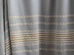 coyuchi organic cotton rippled stripe shower curtain deep pewter w mustard in on alibaba com