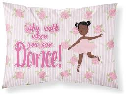 ballet african american pigtails fabric standard pillowcase