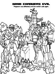 Coloring Transformers Free Printable Transformers Coloring Pages For