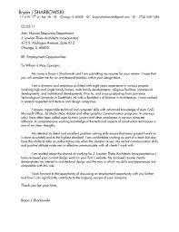 Architectural Cover Letter To Cover Letter Architecture Architecture