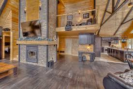 Appalachian Log Homes The Cimarron Model Has Features That Are Open Log Home Floor Plans