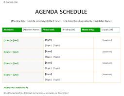 Meeting Agenda Templates Free Downloads