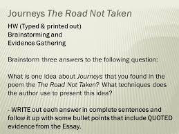 area of study journeys ppt journeys the road not taken