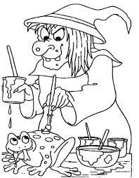 Halloween Witch Coloring S Coloring S Kids Jokingartcom Witch