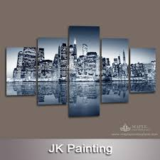 wall art paintings for living roomHuge Wall Art Canvas Oil Painting of Building Group for Living