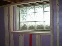 how to install glass block window in wood frame framing inside glass block basement windows